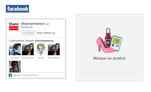 Créer un module social facebook