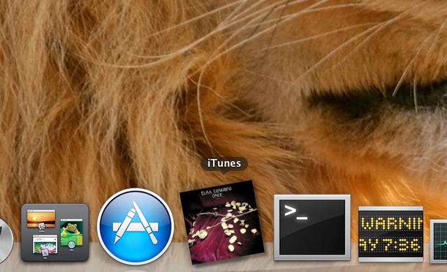 Remplacer iTunes Dock Icône par son Album Art