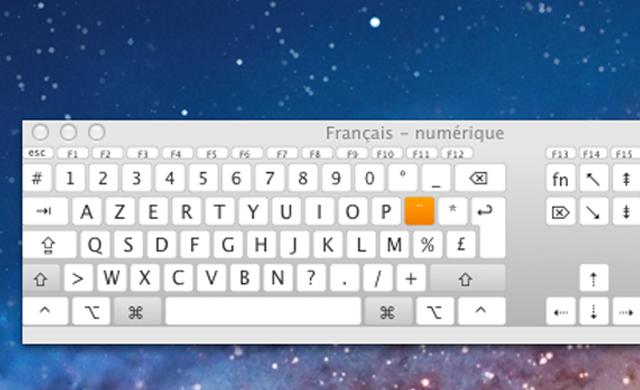 Afficher un clavier virtuel Mac OS X Lion