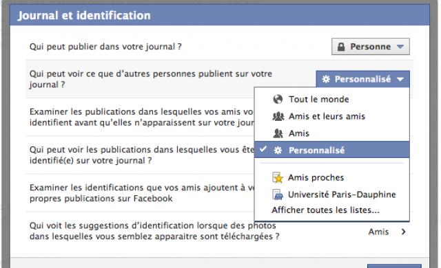 Empêcher amis voir vos messages prives facebook