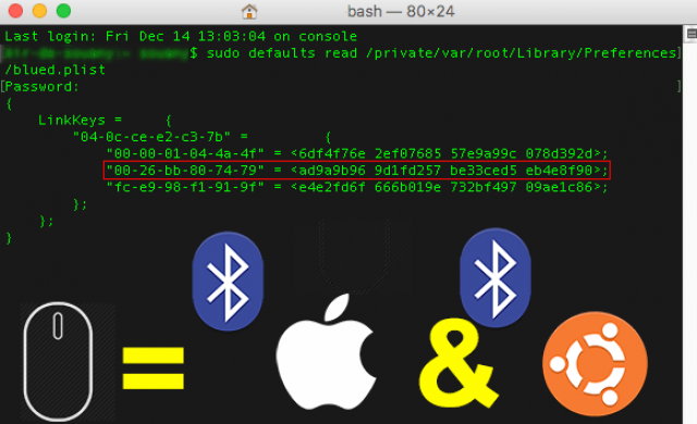Associate same bluetooth mouse on macos and linux