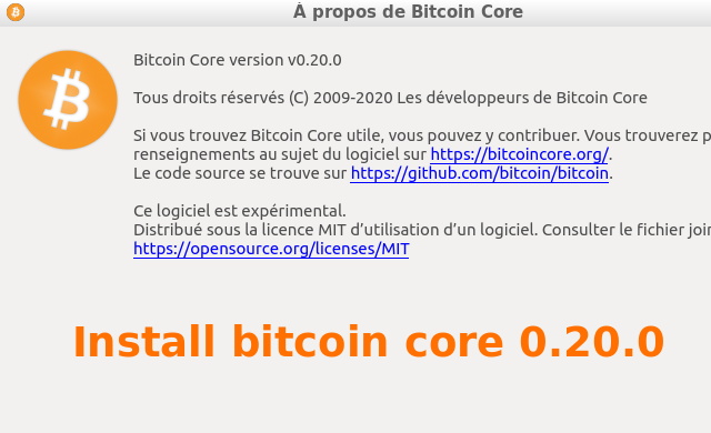 Install wallet bitcoin core ubuntu 0.20.0