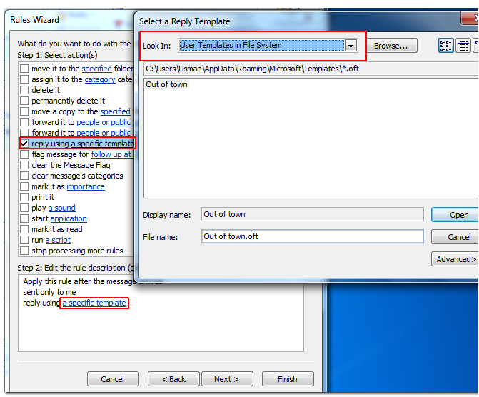 Create Auto Reply Mail In Outlook 2010